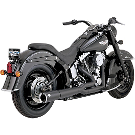 Vance & Hines Pro Pipe Exhaust - Black - 1991 Harley Davidson Fat Boy - FLSTF Vance & Hines Big Shots Staggered Exhaust - Black