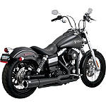 Vance & Hines Pro Pipe Exhaust - Black -  Metric Cruiser Full Exhaust Systems