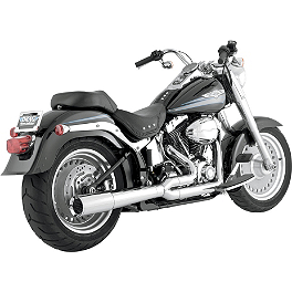 Vance & Hines Pro Pipe Exhaust - Chrome - 2002 Harley Davidson Fat Boy - FLSTFI Vance & Hines Big Radius 2-Into-1 Exhaust - Black