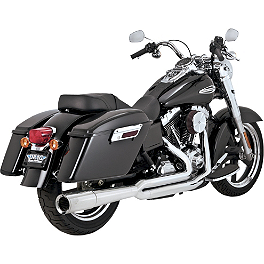 Vance & Hines Pro Pipe Exhaust - Chrome - Vance & Hines Twin Slash Staggered Exhaust - Chrome