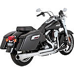 Vance & Hines Pro Pipe Exhaust - Chrome -  Metric Cruiser Full Exhaust Systems