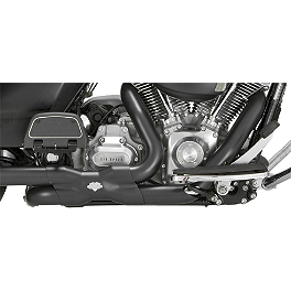 Vance & Hines Power Duals Headpipe System - Black - 2010 Harley Davidson Road King - FLHR Vance & Hines EPA Compliant Twin Slash Slip-On Exhaust - Chrome