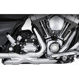 Vance & Hines Power Duals Headpipe System - Chrome - Vance & Hines Monster Rounds Slip-On Exhaust - Chrome With Chrome Tips