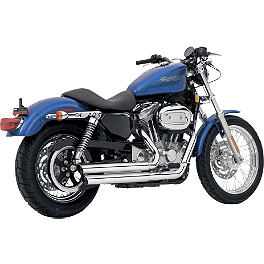 Vance & Hines Q-Series Double Barrel Exhaust - Chrome - 2010 Harley Davidson Sportster Iron 883 - XL883N Vance & Hines Blackout 2-Into-1 Exhaust - Black