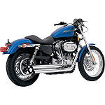 Vance & Hines Q-Series Double Barrel Exhaust - Chrome - Vance and Hines Cruiser Exhaust