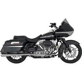 Vance & Hines Tapered Slash-Cut Slip-On Exhaust - Chrome - 2012 Harley Davidson Road King - FLHR Vance & Hines Competition Series Slip-On Exhaust - Black
