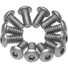 Vance & Hines Allen Cap Exhaust Screw Kit - Vance & Hines Straightshots Exhaust - Chrome