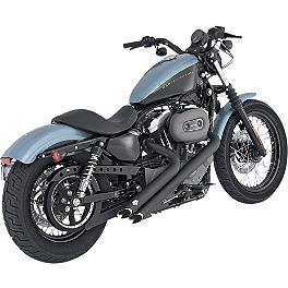 Vance & Hines Sideshots Exhaust - Black - 2008 Harley Davidson Sportster Low 883 - XL883L Vance & Hines Blackout 2-Into-1 Exhaust - Black