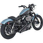 Vance & Hines Sideshots Exhaust - Black - Vance and Hines Cruiser Products