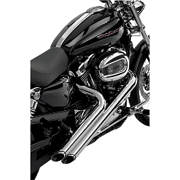 Vance & Hines Sideshots Exhaust - Chrome - 2010 Harley Davidson Sportster Low 883 - XL883L Vance & Hines Big Radius 2-Into-2 Exhaust - Black
