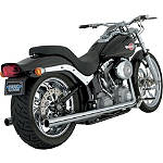 Vance & Hines Softail Duals Exhaust - Chrome -  Metric Cruiser Full Exhaust Systems