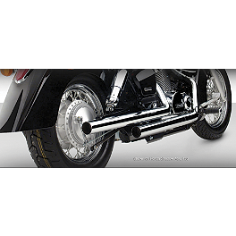 Vance & Hines Straightshots HS Exhaust - 2007 Honda Shadow Spirit - VT750C2 Vance & Hines Shortshots Staggered Exhaust - Black