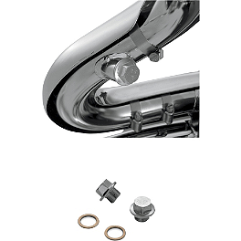"Vance & Hines Sensor Port Plug Kit - 18mm x 1.5"" - Vance & Hines EPA Compliant Twin Slash Slip-On Exhaust - Chrome"