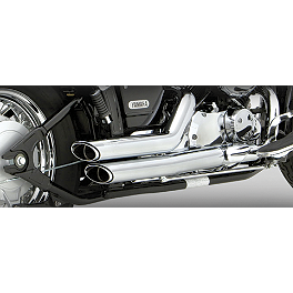 Vance & Hines Shortshots Staggered Exhaust - Chrome - 2004 Yamaha V Star 650 Classic - XVS65A Vance & Hines Cruzers Exhaust