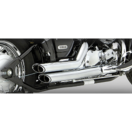 Vance & Hines Shortshots Staggered Exhaust - Chrome - 2008 Yamaha V Star 650 Custom - XVS65 Vance & Hines Cruzers Exhaust