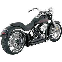 Vance & Hines Shortshots Staggered Exhaust - Black - 2002 Harley Davidson Heritage Softail Classic - FLSTCI Vance & Hines Big Radius 2-Into-2 Exhaust - Black