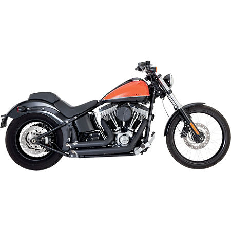 Vance & Hines Shortshots Staggered Exhaust - Black - Main