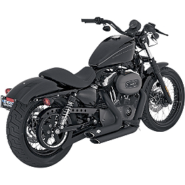 Vance & Hines Shortshots Staggered Exhaust - Black - 2008 Harley Davidson Sportster Low 883 - XL883L Vance & Hines Blackout 2-Into-1 Exhaust - Black