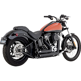 Vance & Hines Shortshots Staggered Exhaust - Black - Vance & Hines Sideshots Exhaust - Chrome