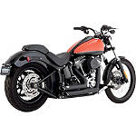 Vance & Hines Shortshots Staggered Exhaust - Black -  Metric Cruiser Full Exhaust Systems