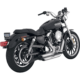 Vance & Hines Shortshots Staggered Exhaust - Chrome - 2011 Harley Davidson Sportster Iron 883 - XL883N Vance & Hines Blackout 2-Into-1 Exhaust - Black