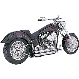 Vance & Hines Shortshots Exhaust - Chrome - 2000 Harley Davidson Fat Boy - FLSTF Vance & Hines Big Radius 2-Into-2 Exhaust - Black