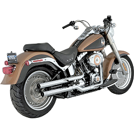 Vance & Hines Straightshots Slip-On Exhaust - Chrome - 2010 Harley Davidson Fat Boy - FLSTF Vance & Hines Fuel Pak