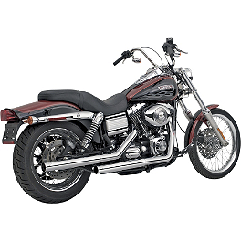 Vance & Hines Straightshots Slip-On Exhaust - Chrome - 2007 Harley Davidson Dyna Wide Glide - FXDWG Vance & Hines Big Radius 2-Into-1 Exhaust - Black