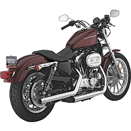 Vance & Hines Straightshots Slip-On Exhaust - Chrome - 2004 Harley Davidson Sportster Custom 1200 - XL1200C Vance & Hines Big Radius 2-Into-2 Exhaust - Black