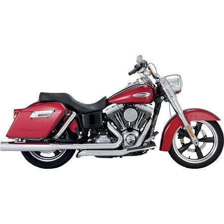 Vance & Hines Switchback Duals With Monster Rounds Slip-on Mufflers - Chrome - Main