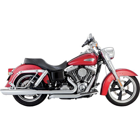 Vance & Hines Switchback Duals With Twin Slash Slip-on Mufflers - Chrome - Main