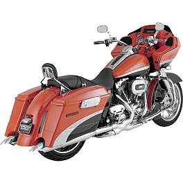 "Vance & Hines 4"" Classic Turn Down Slip-On Exhaust - Chrome - Vance & Hines Monster Ovals Slip-On Exhaust - Chrome With Chrome Tips"