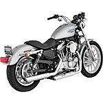 "Vance & Hines 3"" Twin Slash Rounds Slip-On Exhaust - Chrome - Vance and Hines Cruiser Products"