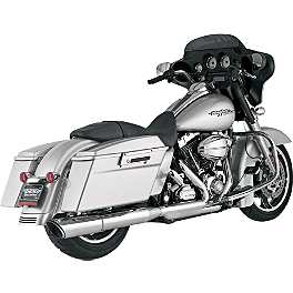 "Vance & Hines 4-1/2"" Twin Slash Rounds Slip-On Exhaust - Chrome - 2010 Harley Davidson Street Glide - FLHX Vance & Hines 4-1/2"