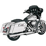 "Vance & Hines 4-1/2"" Twin Slash Rounds Slip-On Exhaust - Chrome - Vance and Hines Cruiser Products"
