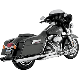 "Vance & Hines 4"" Twin Slash Rounds Slip-On Exhaust - Chrome - 1996 Harley Davidson Electra Glide Standard - FLHT Vance & Hines Competition Series Slip-On Exhaust - Black"
