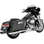 "Vance & Hines 4"" Twin Slash Rounds Slip-On Exhaust - Chrome - Vance and Hines Cruiser Exhaust"