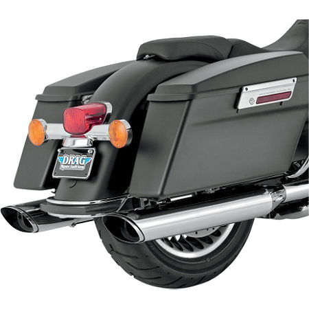 Vance & Hines EPA Compliant Twin Slash Slip-On Exhaust - Chrome - Main