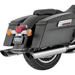 Vance & Hines EPA Compliant Twin Slash Slip-On Exhaust - Chrome - 2011 Harley Davidson Road King - FLHR Vance & Hines Competition Series Slip-On Exhaust - Black