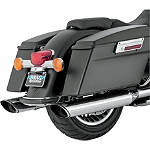 Vance & Hines EPA Compliant Twin Slash Slip-On Exhaust - Chrome - Vance and Hines Cruiser Products