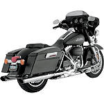Vance & Hines Twin Slash Ovals Slip-On Exhaust - Chrome - Vance and Hines Cruiser Exhaust