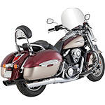 Vance & Hines Twin Slash Rounds Slip-On Exhaust - Chrome - Vance and Hines Cruiser Products