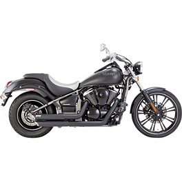 Vance & Hines Twin Slash Staggered Exhaust - Black - Vance & Hines Fuel Pak