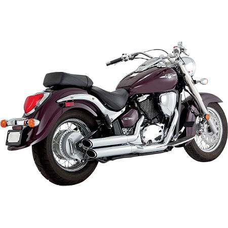 Vance & Hines Twin Slash Staggered Exhaust - Chrome - Main