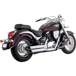 Vance & Hines Twin Slash Staggered Exhaust - Chrome - Baron Big 'N Nasty Pipes