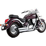 Vance & Hines Twin Slash Staggered Exhaust - Chrome -  Metric Cruiser Full Exhaust Systems