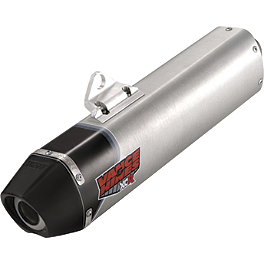 Vance & Hines XCR Slip-On Exhaust - 2007 Honda XR650L FMF Q4 Spark Arrestor Slip-On Exhaust