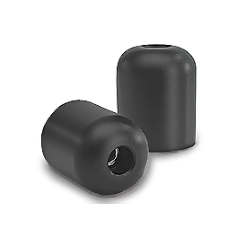 Vortex Aftermarket Bar End Sliders - Black - Vortex 7 Degree Clip-Ons 46mm - Silver