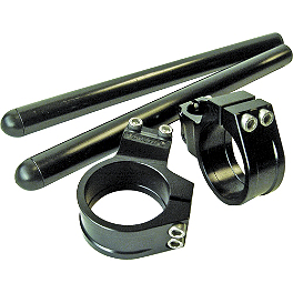 Vortex 0 Degree Clip-Ons 50mm - Black - 1998 Aprilia RS 250 Powerstands Racing Clip-Ons