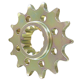 Vortex Front Sprocket - 2007 Suzuki RMZ250 Yoshimura Large Engine Plug - Red